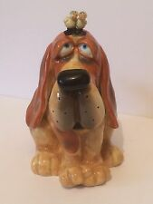 Douglas Russ Berrie Comical Signed Ceramic Playful Dog Bank RARE