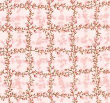 Le Jardin Parisien Climbing Rose Trellis PINK 100% cotton Fabric by the yard