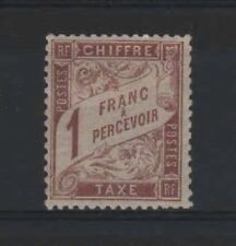 "FRANCE STAMP TIMBRE TAXE N° 25 "" TYPE DUVAL 1F MARRON "" NEUF x TB   R318"