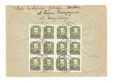 Polen Briefmarken Brief von 1951 Groszy Aufdruck Präsident Mi 650