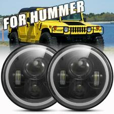 "2X DOT 7"" 96W LED Headlight High-Low Halo Signal DRL For Hummer H1 H2 H3 H4-H13"