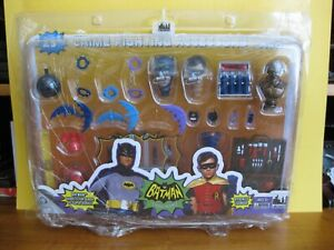 "2014 Figures Toy Company Batman 66' 8"" 25 Piece Crime Fighting Accessories Pk DC"