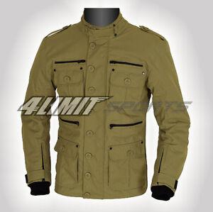 Motorradjacke >>Gentleman<< Outdoor-Sport-Jacke Cordura Textil navy-braun