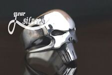 Biker skull Harley Bikers Ring Sterling Silver 925 Gothic  jewelry Size 7-14