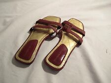 MONTEGO BAY CLUB----Upscale Red  Patent Sandals Sandals--Size 7