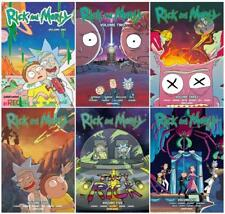 Rick and Morty GRAPHIC NOVEL Series PAPERBACK Collection Set of Volumes 1-6