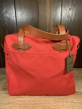 Filson Tote Bag with Zipper Mackinaw Red - New!