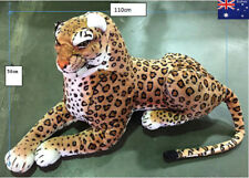 110CM Giant Huge Extra Large Leopard Plush Toy Soft Big Stuffed Animals