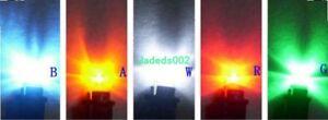 5pcs DC3V/6V 0.5W LED lights BA9S bulb Indicator light Auxiliary lights bulb