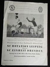 Programm Rotation Leipzig Einheit Dresden 16.3.1958 DDR 1.FC Lok Leipzig DFV