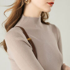 Wholesale Women Fashion Knit Sweater Half-Turtleneck Pullover Jumper Casual Tops