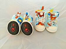 Set of Four Dog Sneakers Puppy Shoes Floral Print Rubber Sole NEW 2 Sizes XXS SM