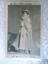 Postcard- MAISI HANBURY at a Woman's Past, Prince of Wales Theatre, Porstmouth