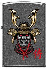 Samurai Warrior Armor Helmet Stone Gray Zippo Lighter