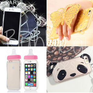 Novelty Cute Tpu Case Collection for iPhone Models -  Diamond Glitter Back Cover