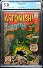 TALES TO ASTONISH #9 1960 CGC 5.0 OFF WH-WH PAGES KIRBY DINO COV. RARE TO EBAY