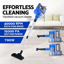 3 in1 Vacuum Cleaner Blue 700W Hand Held Upright Stick Bagless Corded Vac Hoover