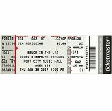 Bruce In The Usa Concert Ticket Stub Portland Maine 1/30/14 Springsteen Tribute