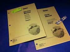 ONAN B48G B43G B43E B48G-GA020  ENGINE PARTS MANUAL + SERVICE MANUAL  CATALOG .