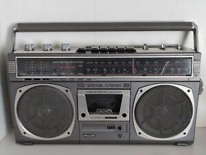 PHILIPS SPATIAL STEREO Radio Kofferradio Ghettoblaster Cassette Recorder Defekt?
