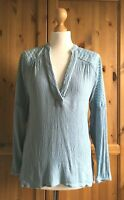 """H&M Sky Blue Kaftan Tunic Pop Over Casual Top Summer Holiday Fits 8 - 10 UK 36"""""""