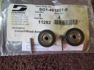 """NEW DYNABRADE 11282 CONTACT WHEEL ASSEMBLY """"LOT OF 2"""""""