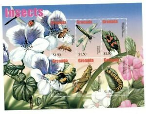 Grenada - 2003 - Insects - Sheet Of 6 - MNH