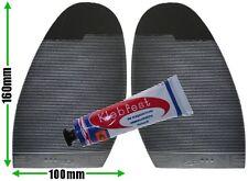 Acanalado Stick en suelas de reparación de calzado Ladies Negro Antideslizante acanalado agarre Pegamento FREEPOST