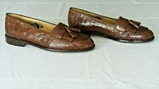 NICE!!! Men's $995 ZELLI Rust Brown Crocodile Alligator Loafers Shoes Boots 10