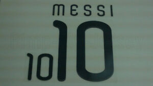 MESSI #10 Argentina Home World Cup 2010 Name Set