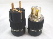 SONAR 24K Gold Plated IEC Connector & EU Schuko Plug Connector 5 Set