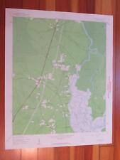 Plantersville South Carolina 1962 Original Vintage USGS Topo Map