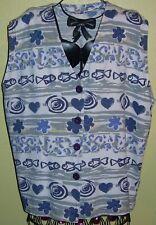 196 ) Tolles Buntes Damen Shirt in Gr. 44 / 46 auch als Weste zu Tragen