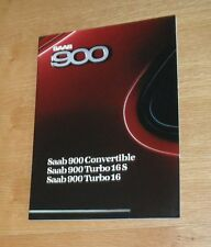Saab 900 Brochure 1987-1988 - Convertible - Turbo 16S - Turbo 16