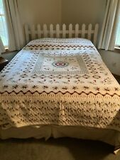 Judi Boisson Roosters Post Crossing King Quilt Never Used 1994 Free Shipping