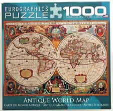 jigsaw puzzle 1000 pc Antique World Map c1600 Eurographics