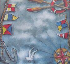 "12""X12"" Scrapbook Paper Sail Away Boat Anchor"