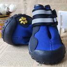 New Dog Shoes WaterProof Rain Boots Socks Non-slip Rubber Shoes Blue L- 2XL