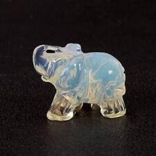 "1.5"" Natural Crystal Quartz Elephant Carving Statue Figurine Stone Mineral Art"