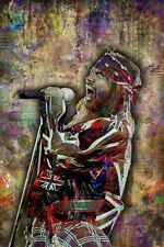 Axl Rose Of Guns N Roses Pop Art Poster, GNR Colorful 8x12in Free Shipping