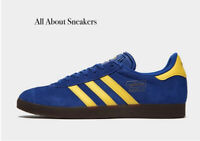 """Adidas Gazelle """"Blue Yellow"""" Trainers All Size Limited Stock"""
