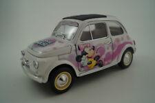 Bburago Burago Modellauto 1:18 Fiat 500 Minnie Mouse