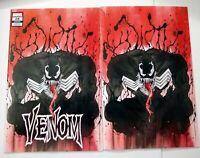 Venom #28 Peach Momoko Virgin Variant and Trade Dress Set With COA NM
