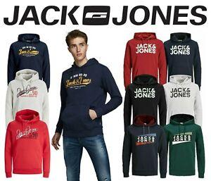 Mens Jack & Jones Hoody Sweatshirt Hoodie Logo Long Sleeve Jumper Pullover Top