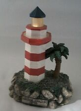 Hilton Head SC 1970 Illuminated Ceramic Lighthouse Hand Painted # 387 of 15,000