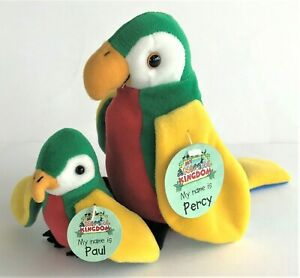 Deagostini My Animal Kingdom Parrot Set Percy and Paul With Tags