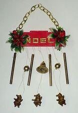 """VINTAGE CHRISTMAS """"NOEL"""" SANTA HANGING CHIMES DECORATION VGC HONG KONG"""