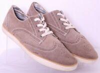 Clarks 63572 Tan Suede Lace-Up Brogue Wingtip Oxford Shoes Men's US 11M