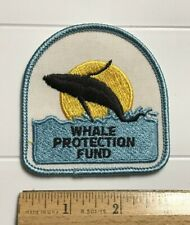 Whale Protection Fund Breaching Jumping Whale Sun Embroidered Patch Badge