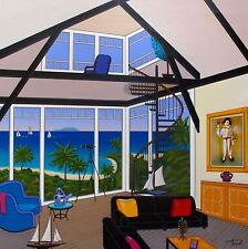 FANCH LEDAN DUPLEX OVER STINSON Hand Signed Limited Edition Serigraph on Canvas